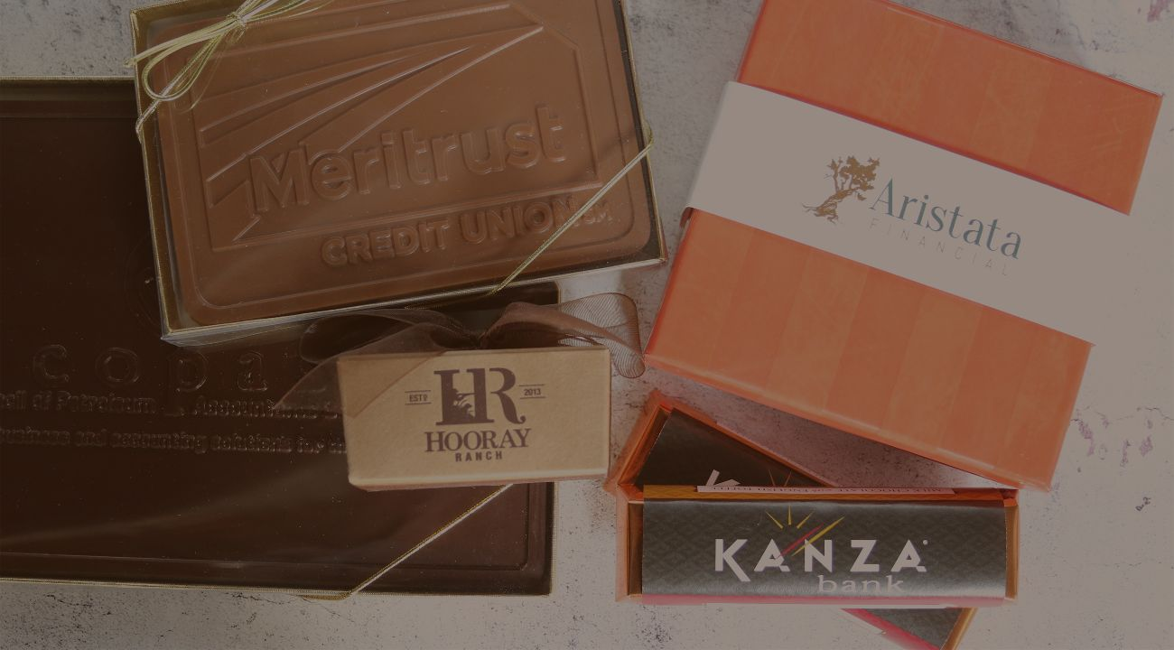 Your company brand on Cocoa Dolce chocolate