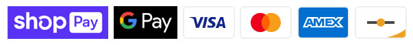 Payment methods include Shop Page, Google Pay, Visa, Master Card, American Express and Discover